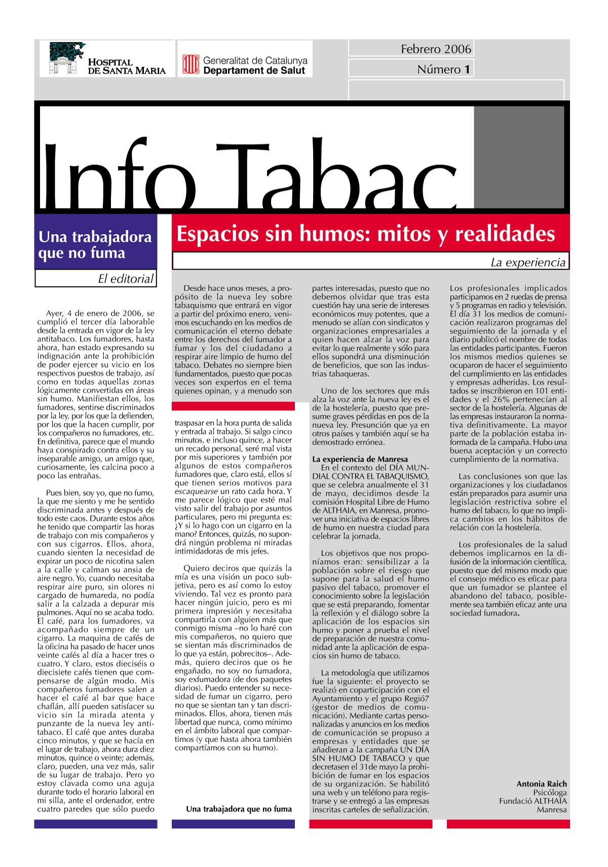 Info Tabac nº1 - Febrero 2006