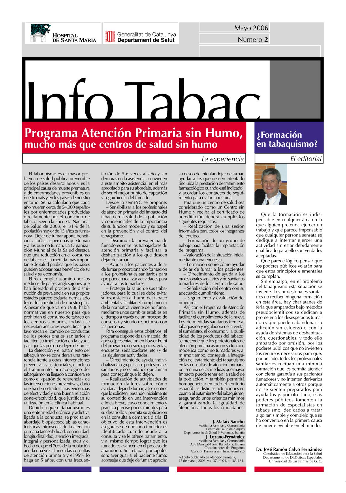 Info Tabac nº 2 - Mayo 2006