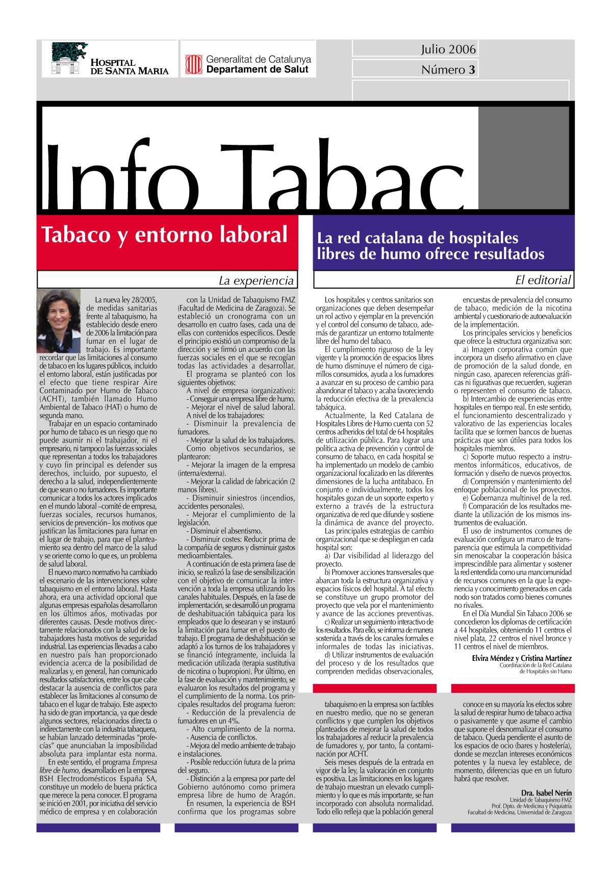 Info Tabac nº3 - Julio 2006
