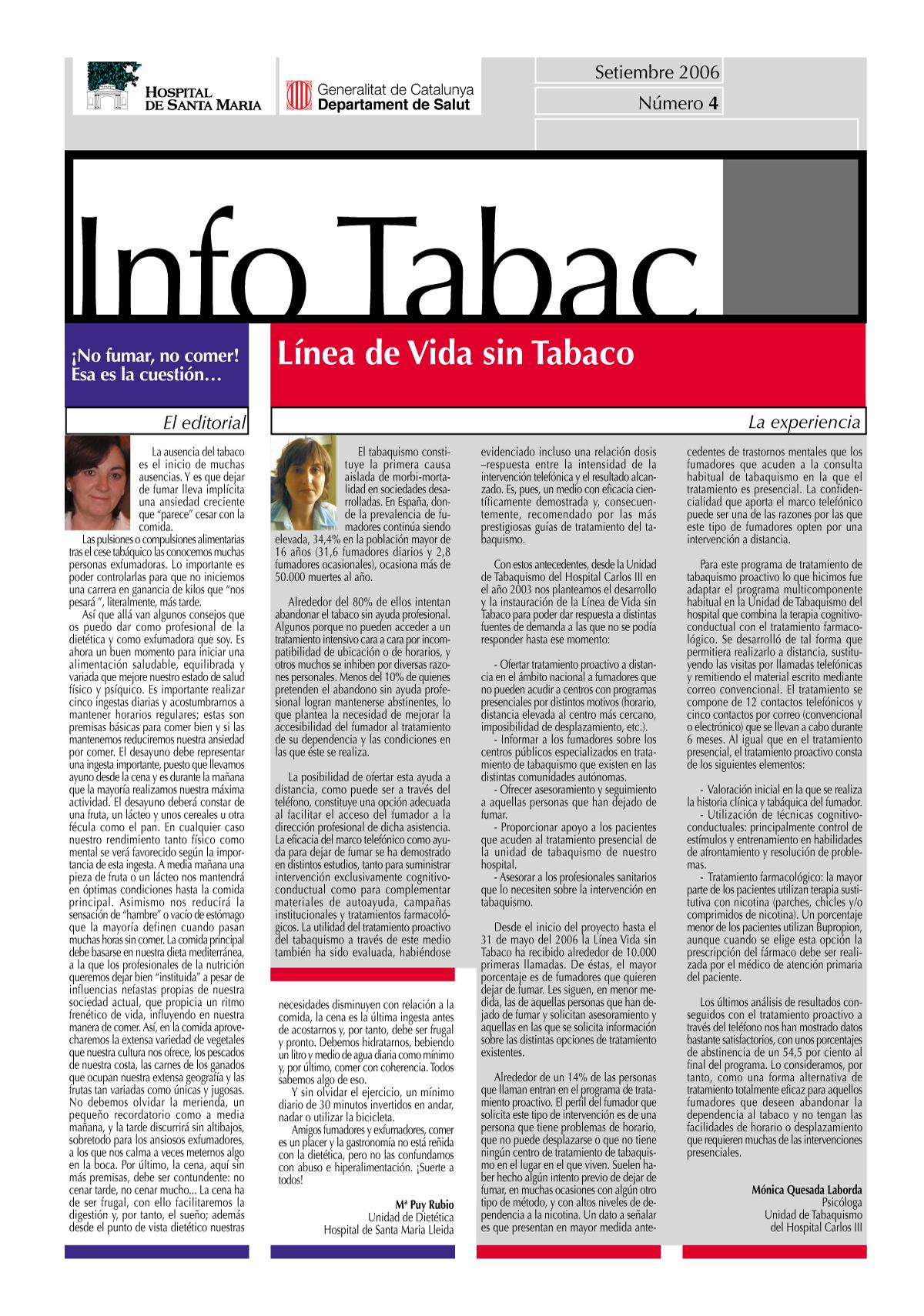 Info Tabac nº4 - Setiembre 2006