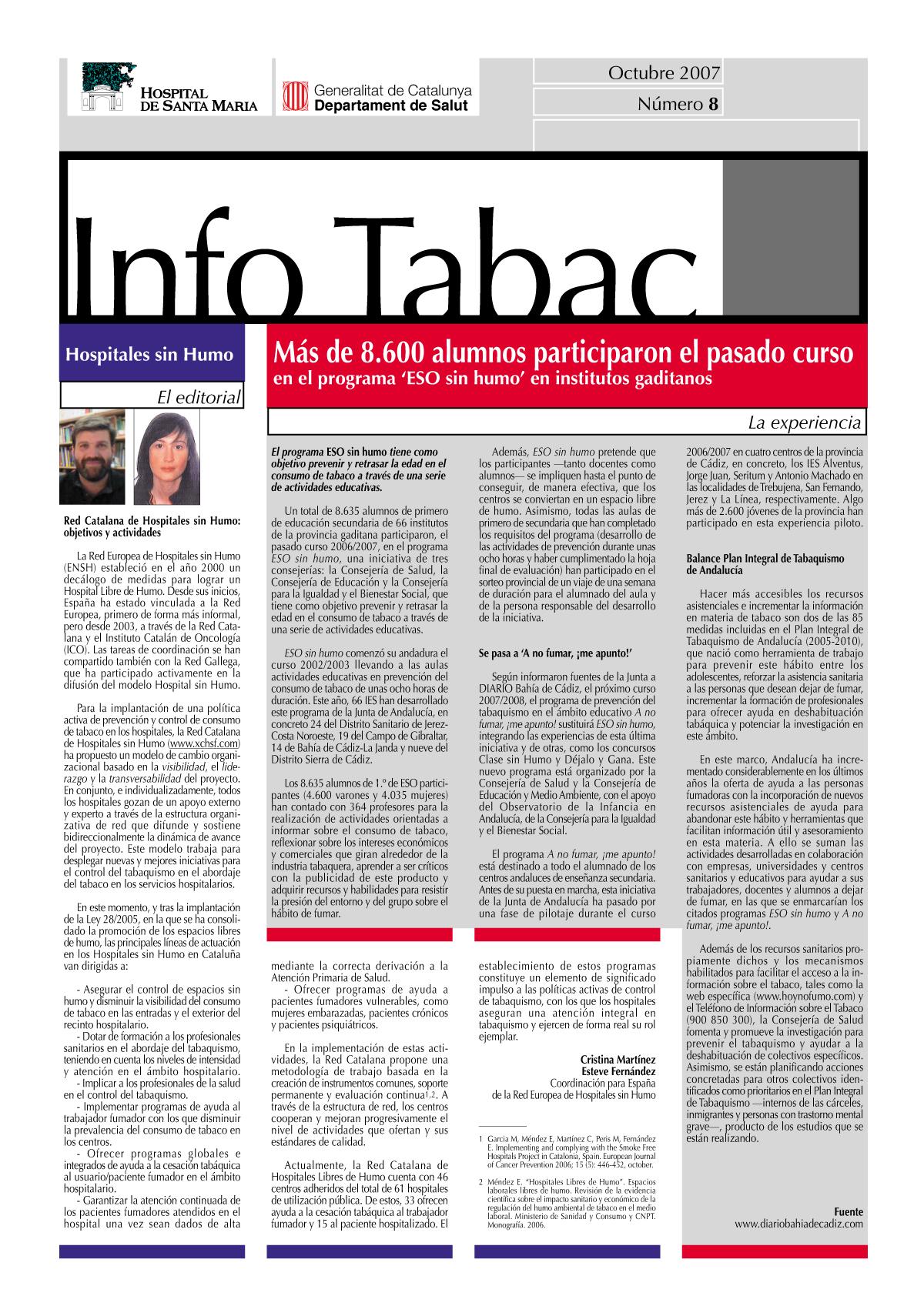 Info Tabac nº8 - Octubre 2007