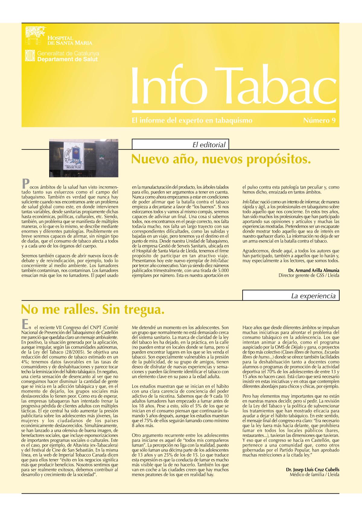 Info Tabac nº9 - Enero 2008