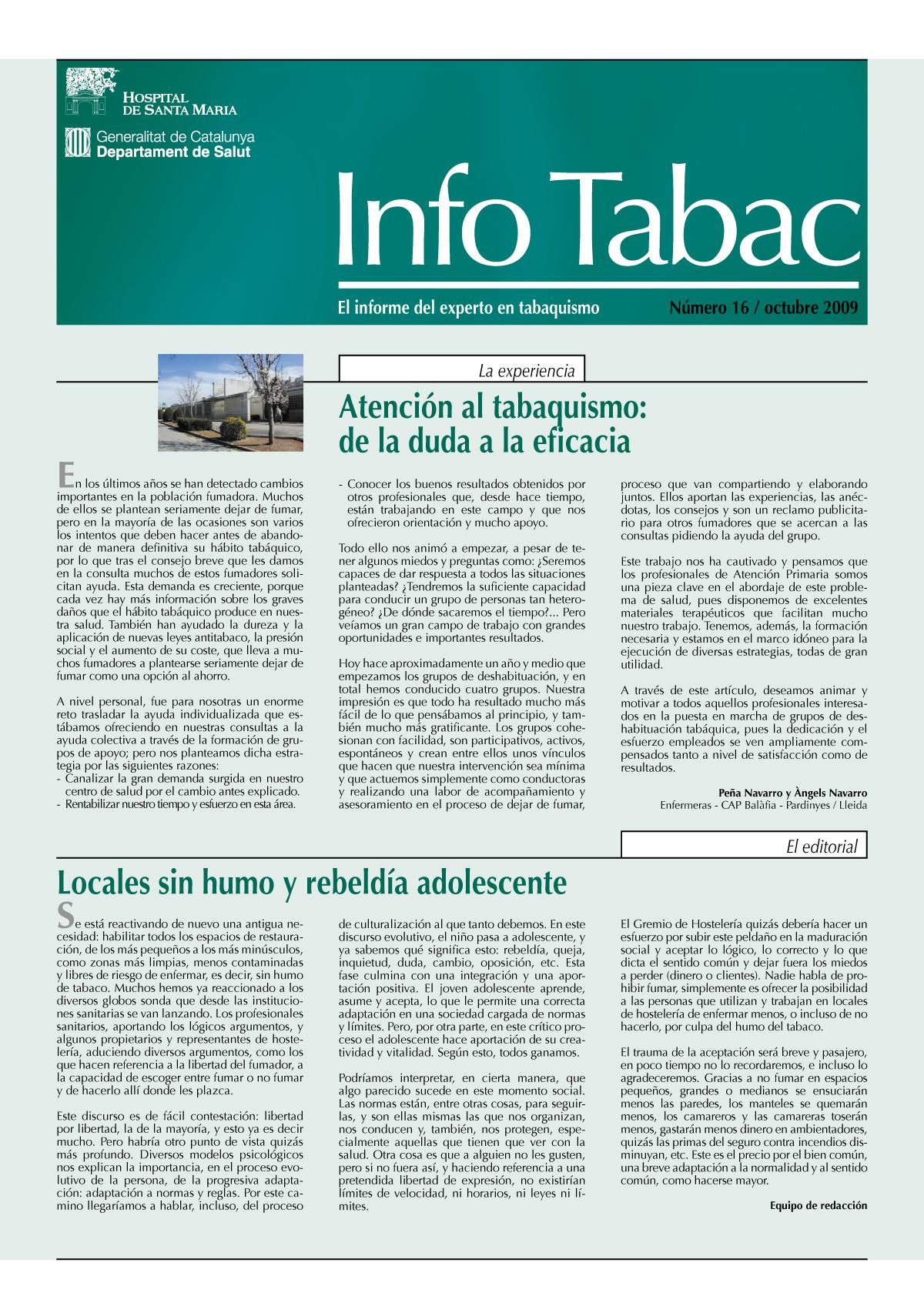 Info Tabac nº16 - Octubre 2009