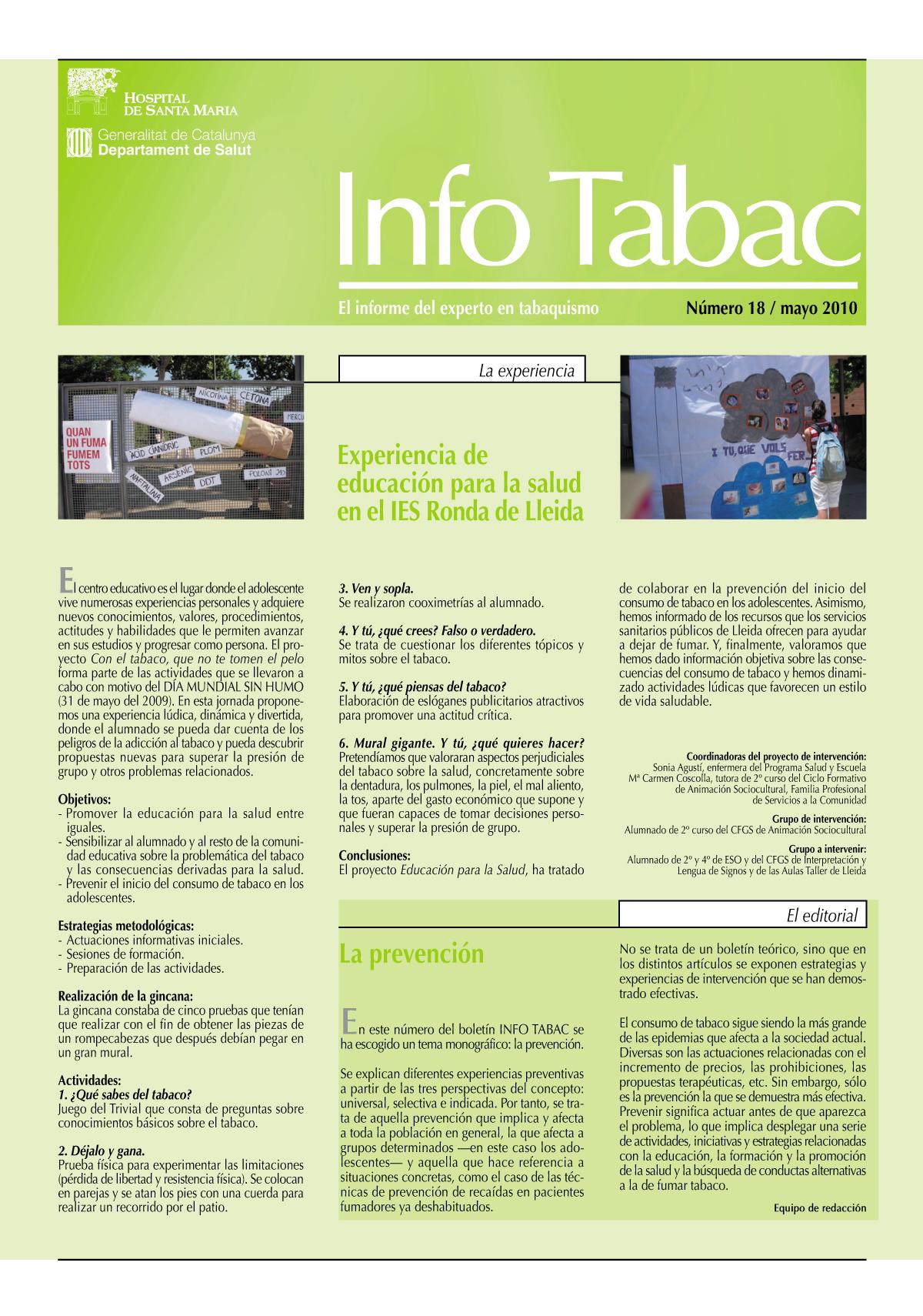 Info Tabac nº18 - Mayo 2010