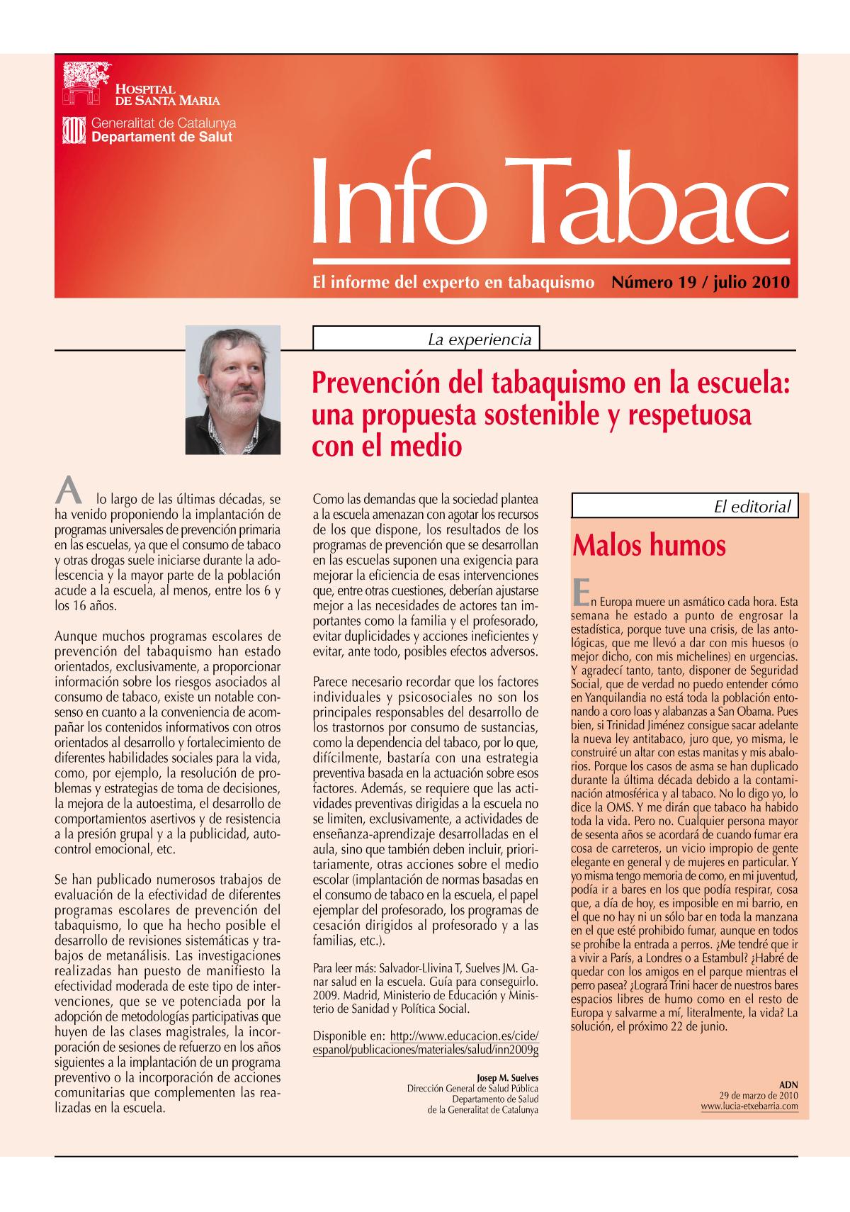 Info Tabac nº19 - Julio 2010