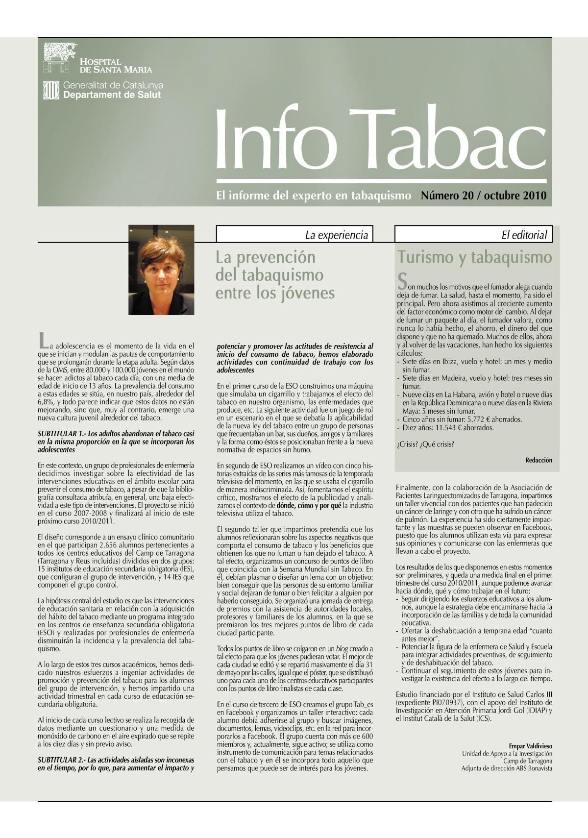 Info Tabac nº20 - Octubre 2010