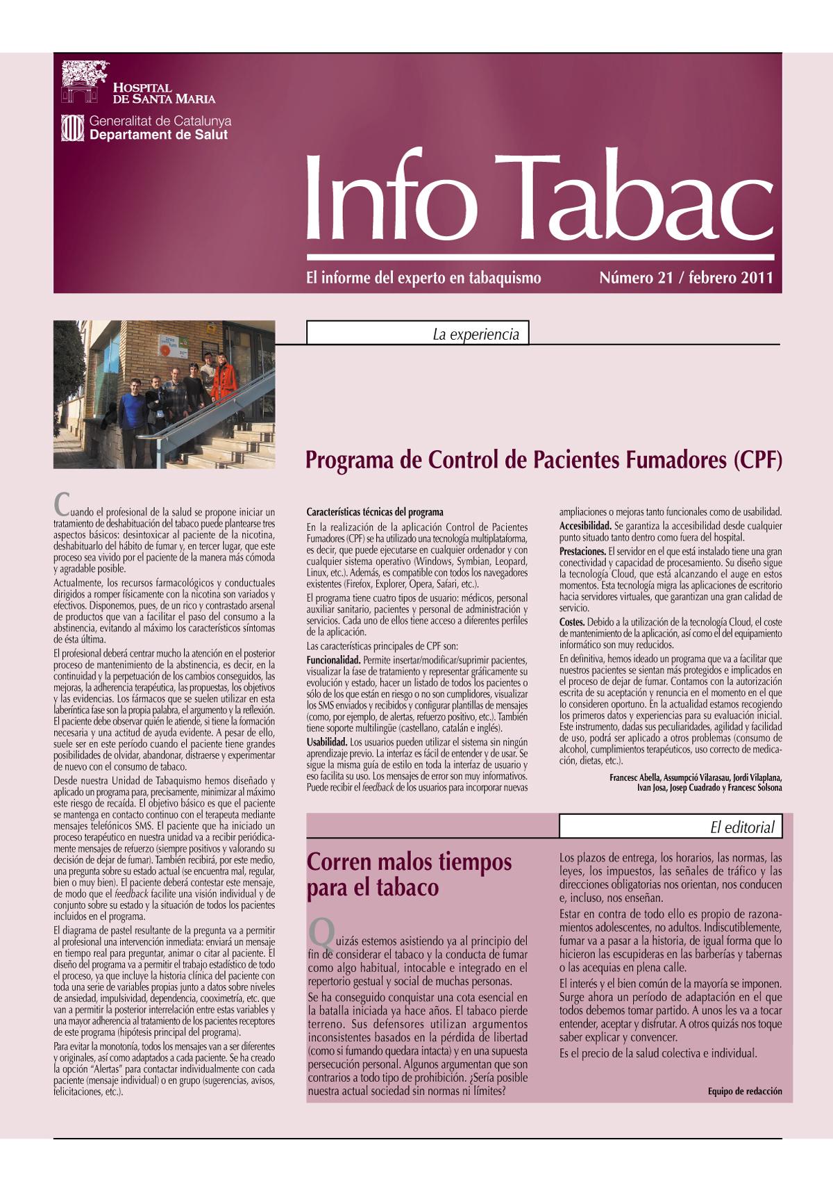 Info Tabac nº21 - Febrero 2011