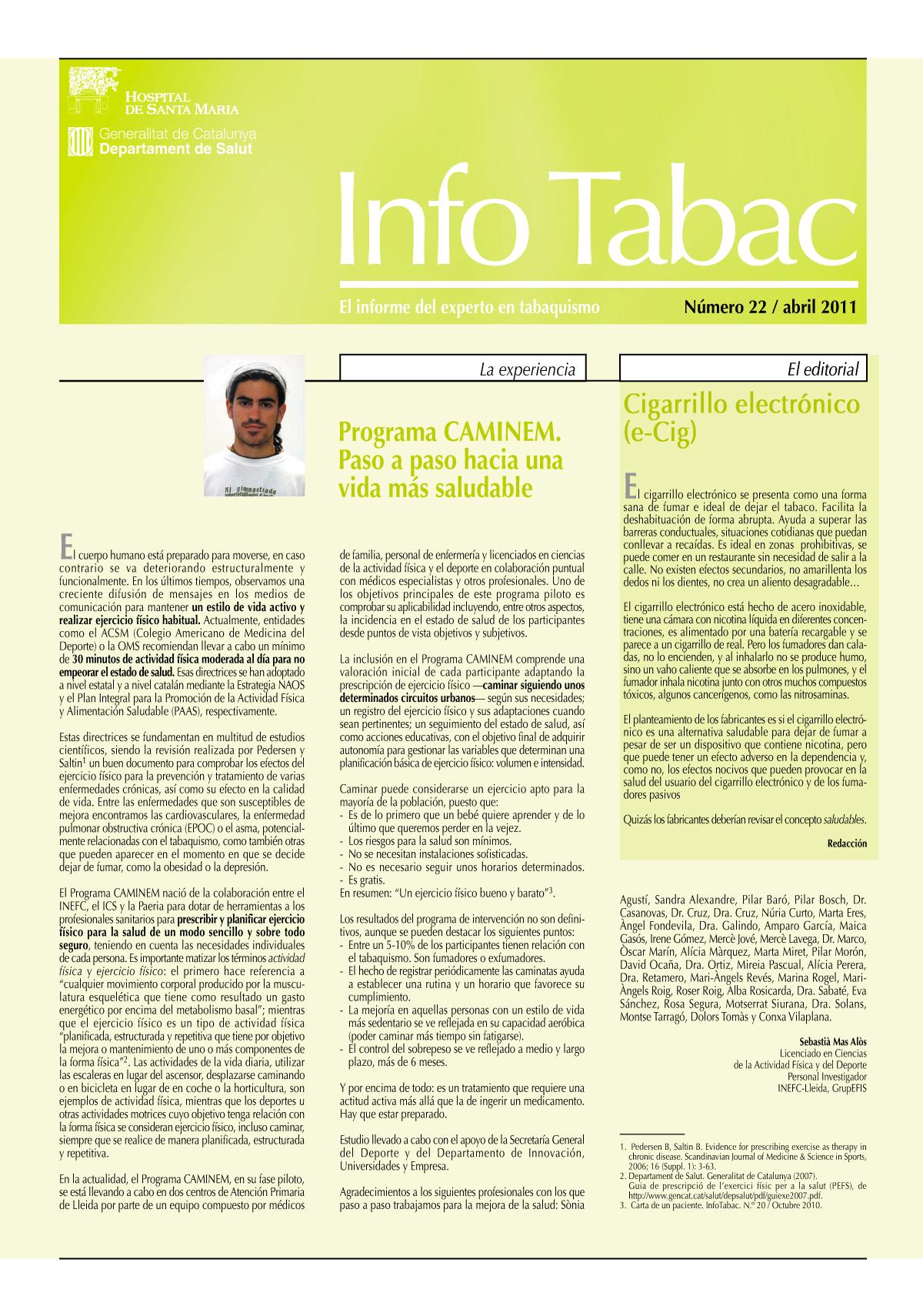 Info Tabac nº22 - Abril 2011